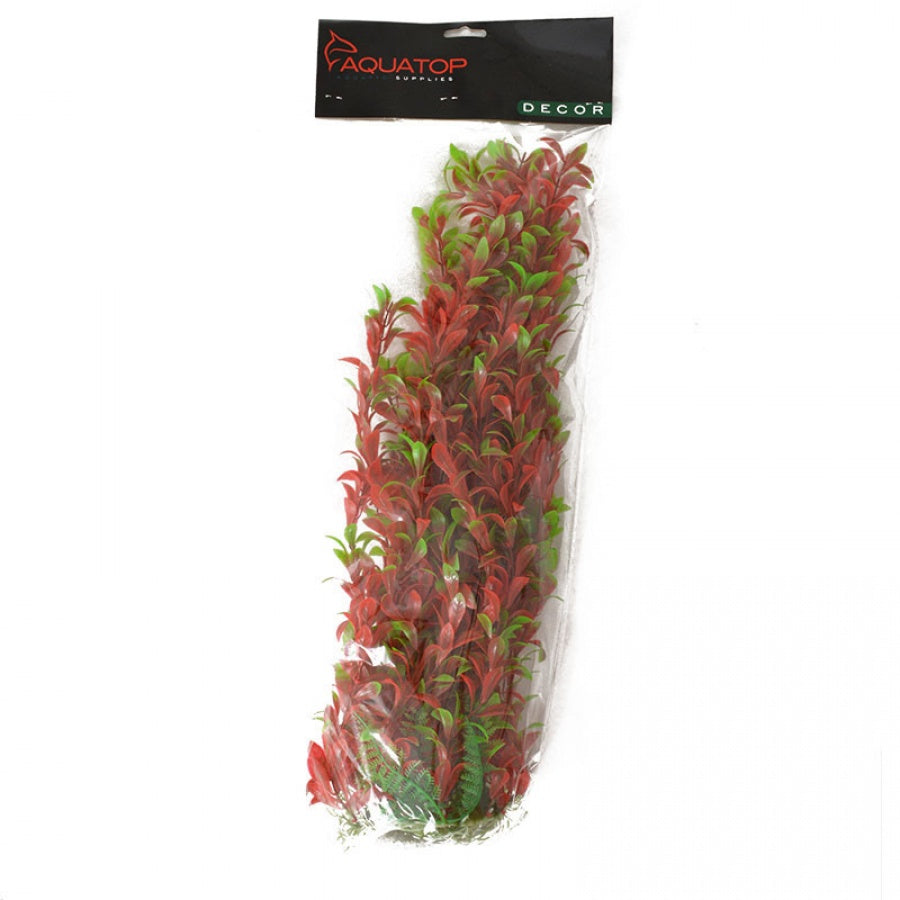 "Goaqua88 Aquatop Hygro Aquarium Plant - Red & Green | 20"" High w/ Weighted Base"