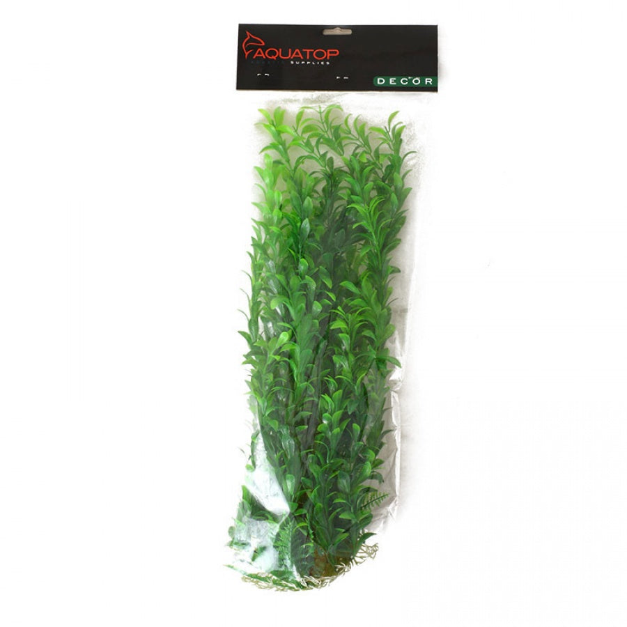 "Goaqua88 Aquatop Hygro Aquarium Plant - Green | 20"" High w/ Weighted Base"