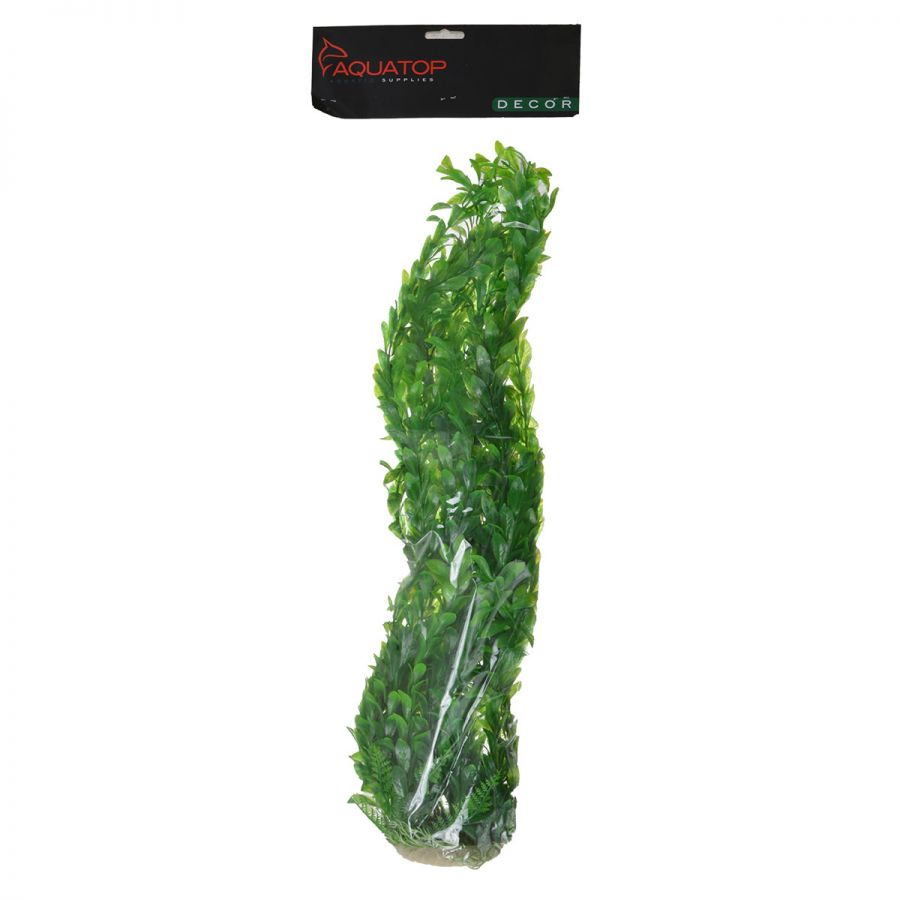 "Goaqua88 Aquatop Light Green Bushy Aquarium Plant | 26"" High w/ Weighted Base"