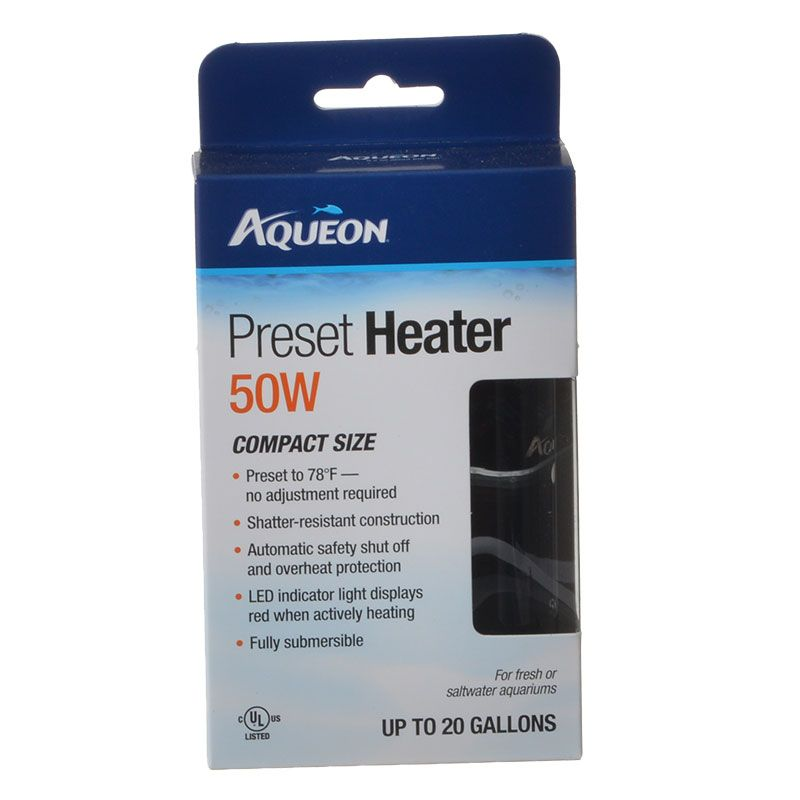Goaqua88 Aqueon Preset Aquarium Heater | 50 Watt (Aquariums up to 20 Gallons)