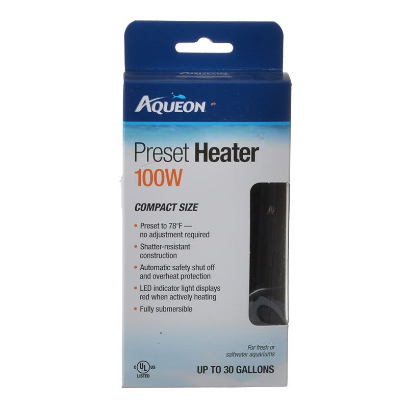 Goaqua88 Aqueon Preset Aquarium Heater | 100 Watt (Aquariums up to 30 Gallons)