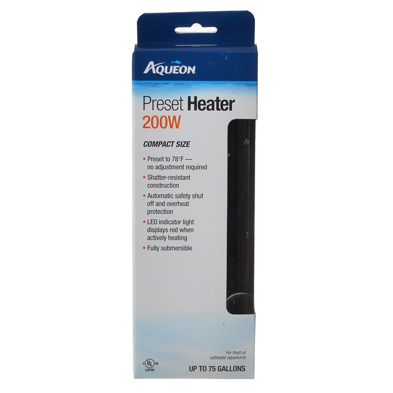 Goaqua88 Aqueon Preset Aquarium Heater | 200 Watt (Aquariums up to 75 Gallons)