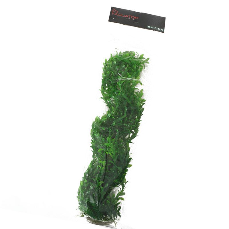 "Goaqua88 Aquatop Broad Leaf Aquarium Plant - Dark Green | 31"" High with Weighted Base"
