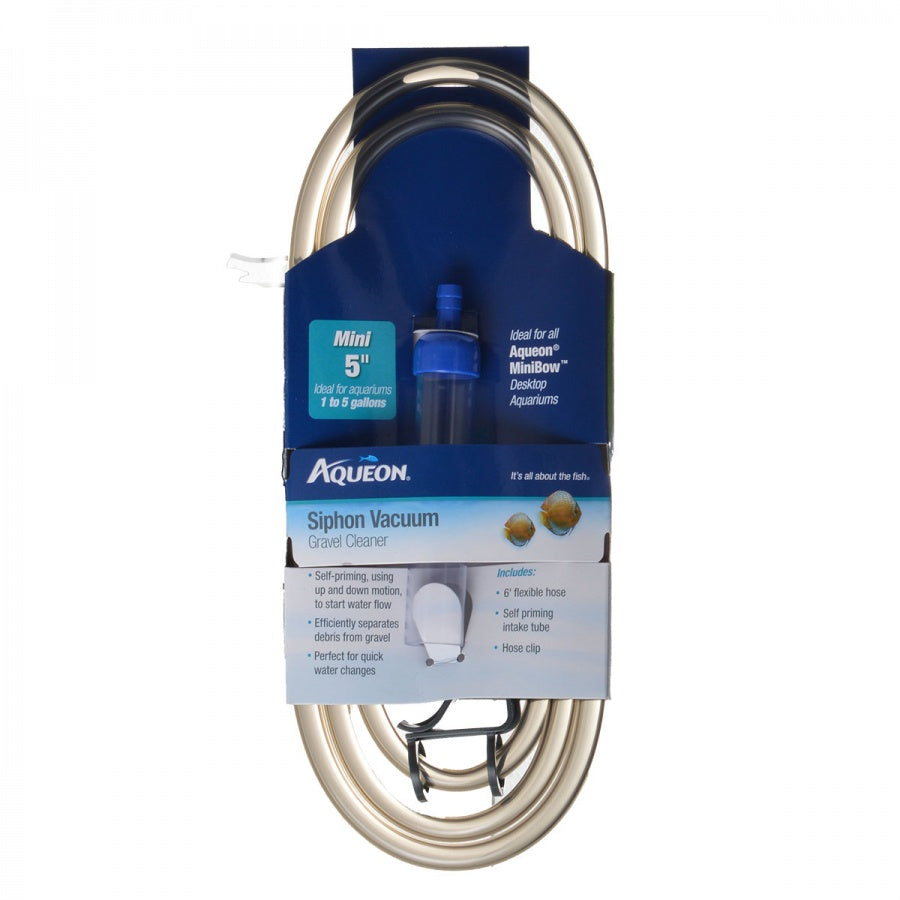 "Goaqua88 Aqueon Siphon Vacuum Gravel Cleaner | Mini - 5"" Tube with 6' Hose - (Aquariums 1-5 Gallons)"