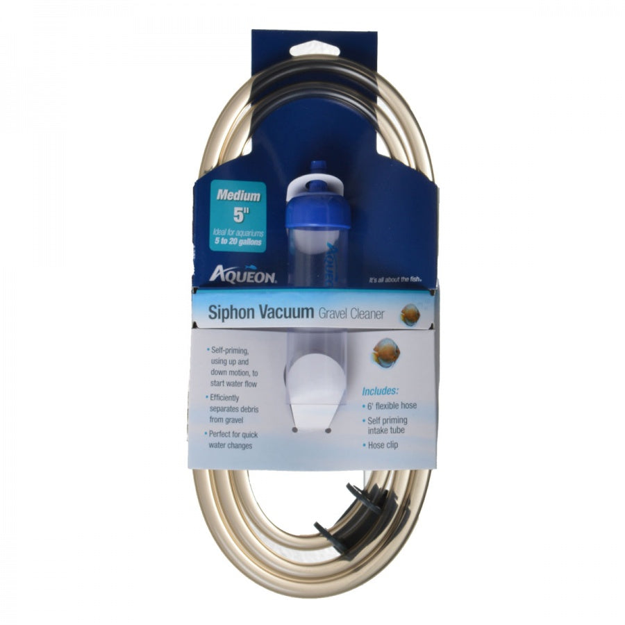 "Goaqua88 Aqueon Siphon Vacuum Gravel Cleaner | Medium - 5"" Tube with 6' Hose - (Aquariums 5-20 Gallons)"