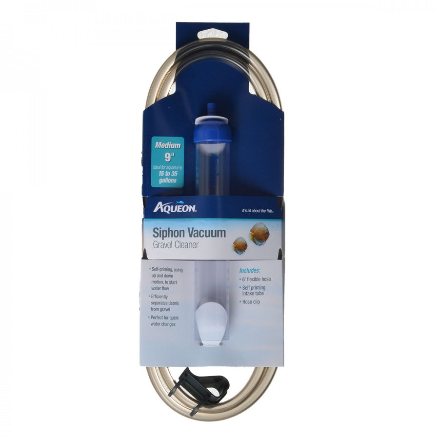"Goaqua88 Aqueon Siphon Vacuum Gravel Cleaner | Medium - 9"" Tube with 6' Tube - (Aquariums 15-35 Gallons)"