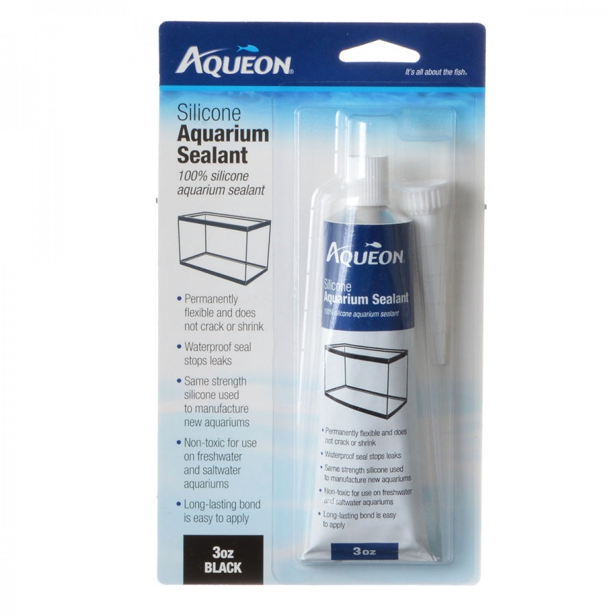 Goaqua88 Aqueon Silicone Aquarium Sealant - Black | 3 oz