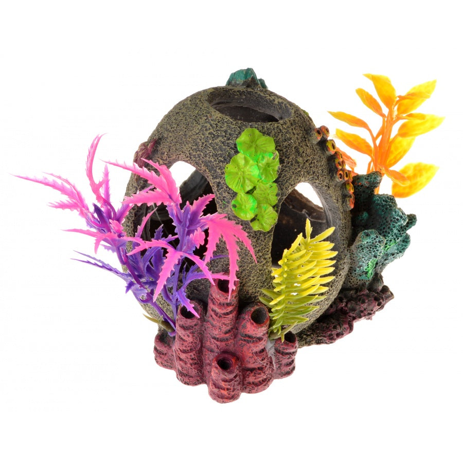 Goaqua88 Exotic Environments Sunken Orb Floral Ornament | 1 Count