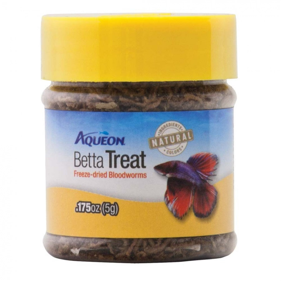 Goaqua88 Aqueon Betta Treat Freeze Dried Bloodworms | 0.175 oz
