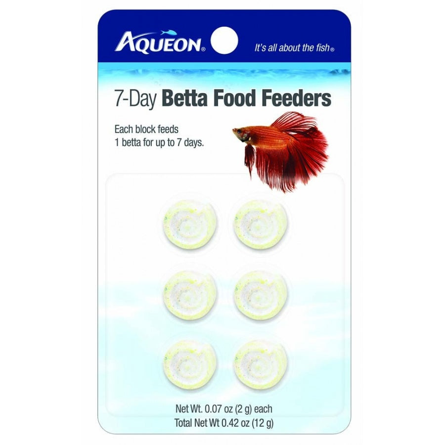 Goaqua88 Aqueon 7-Day Betta Food Feeders | 6 Pack