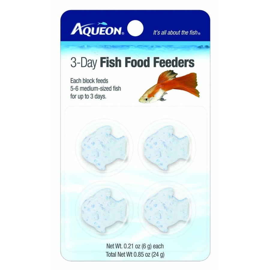 Goaqua88 Aqueon 3-Day Fish Food Feeders | 4 Pack