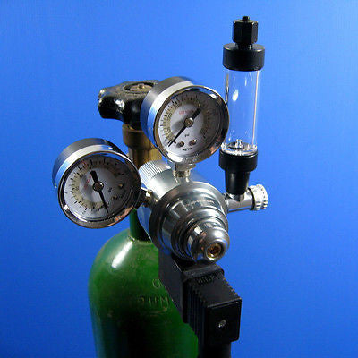 Shell CO2 Regulator + Bubble Counter Tubing CHECK VALVE