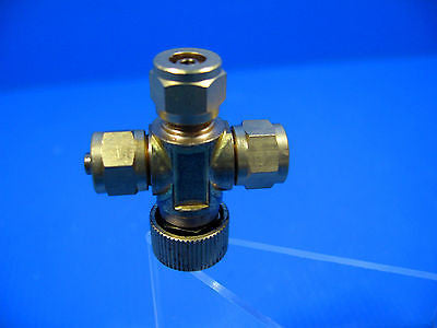 CO2 Needle Valve PRECISE Brass CO2 REGULATOR 1to2 - Pressure Diffuser plant air