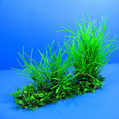 "3D Aquarium PLASTIC PLANTS 10""L Ornament fish Decor pet"