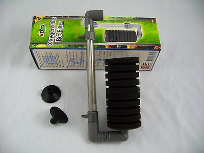 Aquarium Sponge Filter 15gal 60L Oxygen Plus Bio-Filter - AIR fish tank ph #3