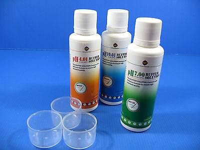 PH 4.01/7.0/10.01 buffer solution SET 150ml Calibration Fluids aquarium PH Meter
