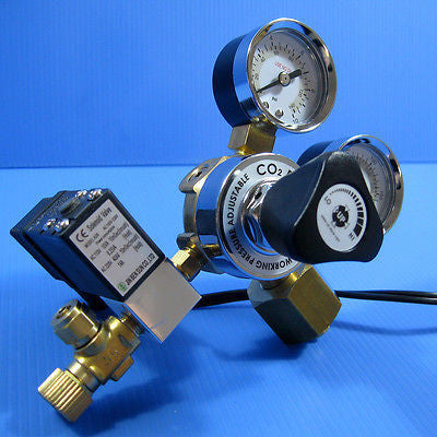 UP AQUA Co2 Working Pressure Adjustable Solenoid Regulator - Diffuser Atomizer