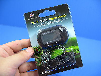 °C & °F LCD Digital Thermometer Temperature Meter Reptile / Vivarium Probe NWE!