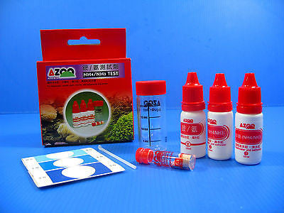 Ammonia NH4 NH3 TEST KIT 57 tests For freshwater plant saltwater reef tank ponds