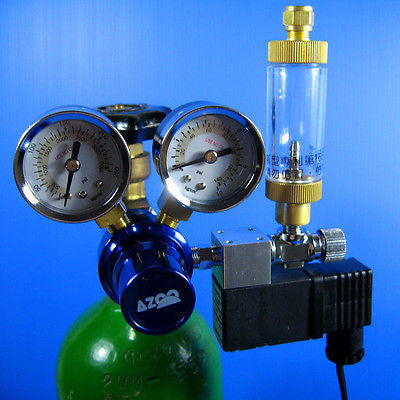 CO2 Pressure Regulator System- Magnetic Solenoid Bubble Counter CHECK VALVE tank