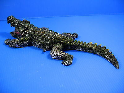 Crocodile Bubbles Aquarium Ornament Decor (L) 26.5cm fish tank Bonsai pond air