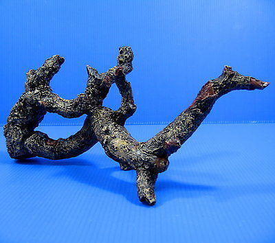 Tree trunk Aquarium Ornament Driftwood poly resin 25.2cm L - Decor root Decaying