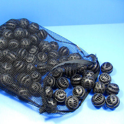 "150pcs bio ball 1.65"" & Filter ZIP Net Bag - Pond balls"