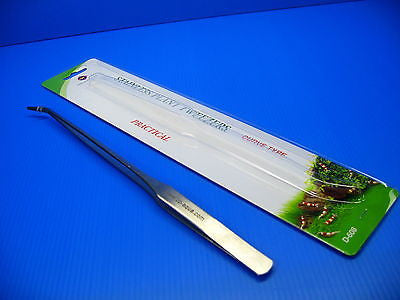 Aquarium Stainless Plant Tweezers Curve Type- Plants Fish Tank