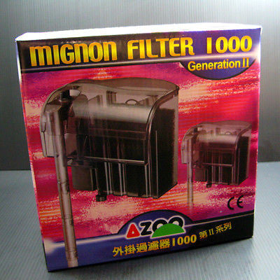 AZOO aquarium 180gph Power Filter 1000 - fish tank Filtrations 720L