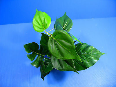 "3D Aquarium PLASTIC PLANTS 15.7""L Ornament fish tank Decoration water plant"