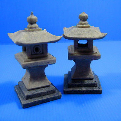 "2pcs Japanese garden Decoration 3.9"" 10cm - Aquarium Polyresin FISH TANK"