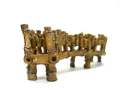 "Bamboo Bridge 6.5"" / 16.7cm Aquarium Ornament Decoration resin bonsai fish tank"