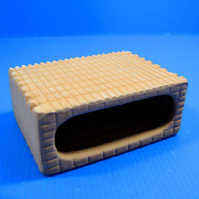 Ceramic spawning Rectangular cave Aquarium Ornament - breed cichlid DECOR hide