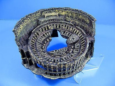 "Roman coliseum cave 9""x7.8""x4.3"" Aquarium Ornament Decor aquatic Arena Colosseum"