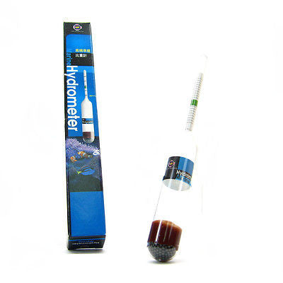 saltwater Hydrometer Glass - reef Soft Coral salinity marine fish shrimp TANK