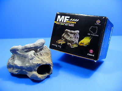 MF CICHLID STONE Ceramic Aquarium 11cm Rock Cave decoration fish tank F923C