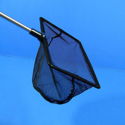 "Aquarium Adjustable Fish NET 5.9""x4.9"" Fine Mesh Stainless steel handle Shrimp"