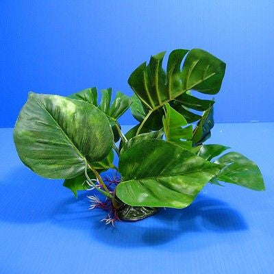 "3D Aquarium PLASTIC PLANTS 11.8""L Ornament fish tank Decoration wayer plant nana"