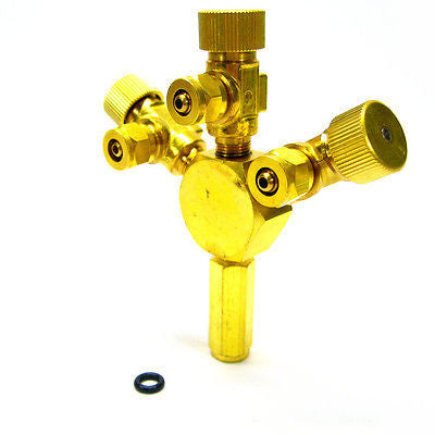 3 Ways Metal Co2 Flow Controller - Tri Regulator Brass splitter Solenoid aquatic