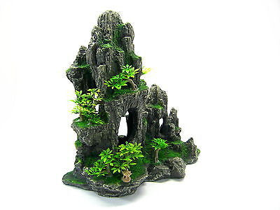 Mountain View Aquarium Ornament tree 29x15x28.5cm - Rock Cave house decoration