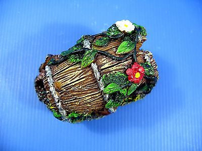 "Barrel Aquarium Ornament 4.7""- resin Decoration Cave"