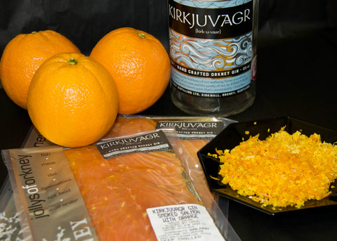 Jollys Smoked Salmon with Kirkjuvagr Orkney Gin
