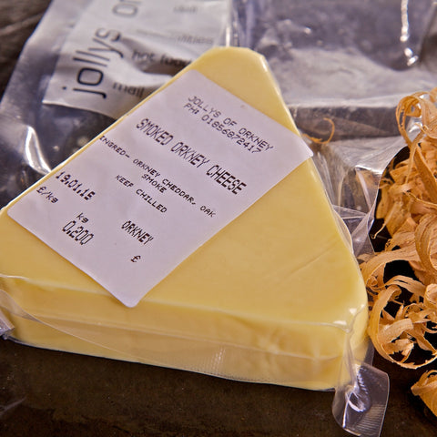 Smoked Orkney Cheddar - Orkney Cheese - Jollys of Orkney