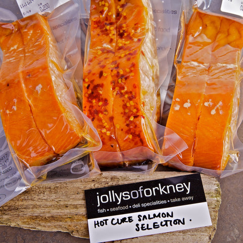 Hot Cure Smoked Salmon Selection - Smoked Salmon - Jollys of Orkney - 1