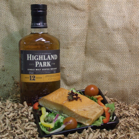 Highland Park Whisky Hot Cure Salmon - Pack - Highland Park Whisky Smoked Salmon - Jollys of Orkney