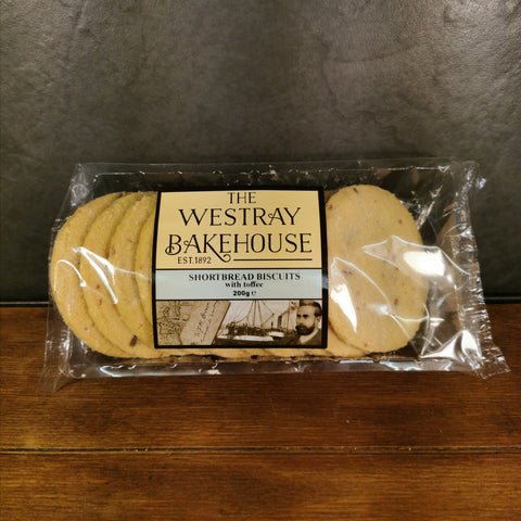 Westray Shortbread Biscuits with Toffee