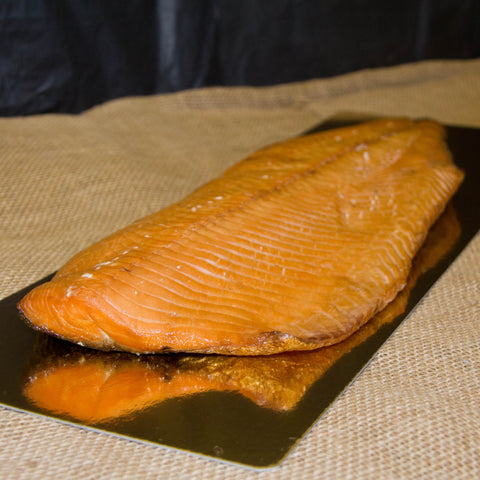 Hot Cure Smoked Salmon - Side