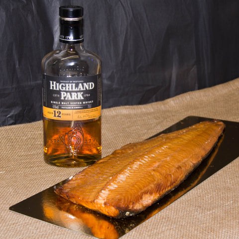 Highland Park Whisky Hot Cure Salmon - Side