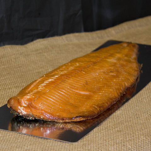 Organic Hot Cure Smoked Salmon - Side