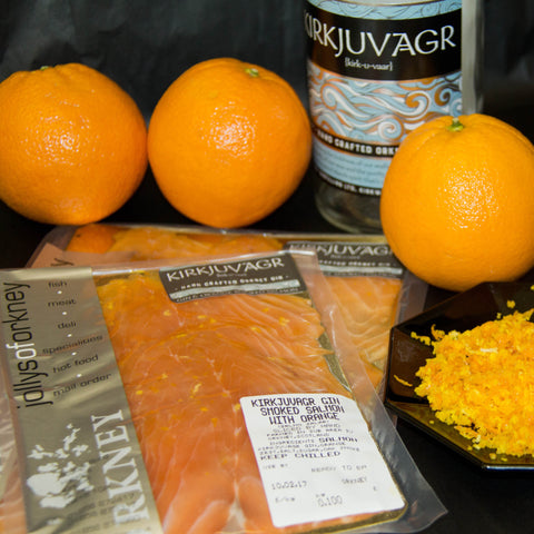 Kirkjuvagr Gin & Orange Smoked Salmon Sliced Pack